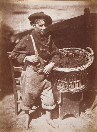 Robert Adamson (photographer) - 'His Faither's Breeks', a Newhaven boy, by Robert Adamson and David Octavius Hill, 1843–1847; from the collection of the National Galleries of Scotland.