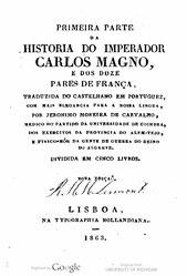 Historia do imperador Carlos Magno e dos doze pares de França
