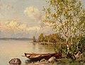 Hjalmar Munsterhjelm - Still Summer Evening, a View from Häme - A-2002-594 - Finnish National Gallery.jpg