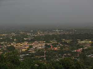 Ho, Ghana - View of Ho from Northern hills