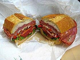 a sub sandwich