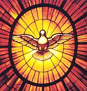 Holy Spirit represented by a dove