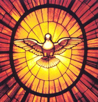 Holy Spirit in Christianity - Stained glass representation of the Holy Spirit as a dove, c. 1660.