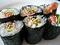 Homemade sushi rolls, 2009.jpg