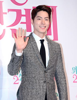 Hong Jong-hyun at Press Conference for Police Family 2.png