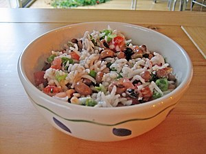 English: This is a bowl of Hoppin' John