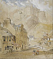 Horatio McCulloch - Edinburgh Castle from the Foot of the Vennel, 1845 - Google Art Project.jpg
