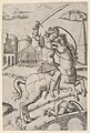 Horatius Cocles on horseback, trampling a fallen soldier MET DP854401.jpg