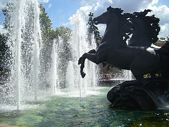 Fountains in Moscow - Fountain by Zurab Tsereteli in Alexander Garden, (1996)