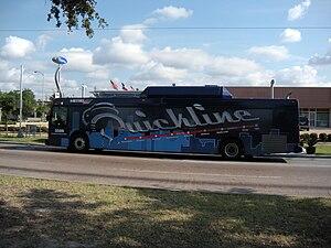 Quickline - Image: Houston METRO New Flyer DE41LFR 3586