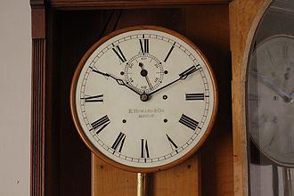 E. Howard & Co. - Image: Howard 89 Regulator dial