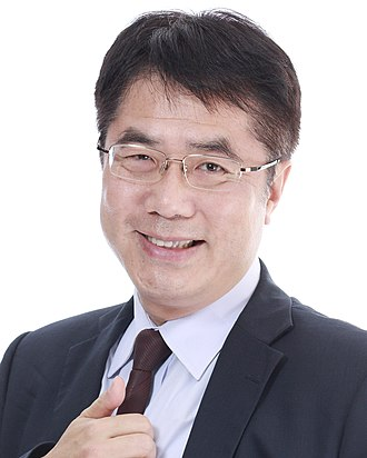 Tainan City Government - Huang Wei-cher, the incumbent Mayor of Tainan City.