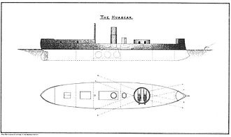 Huáscar (ironclad) - Starboard profile drawing of Huáscar