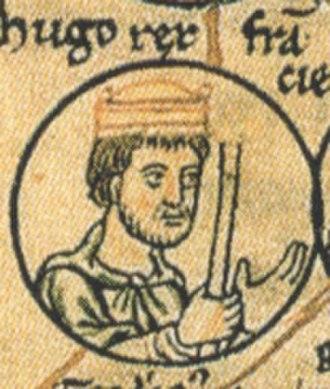 Hugh Capet - 12th century portrayal