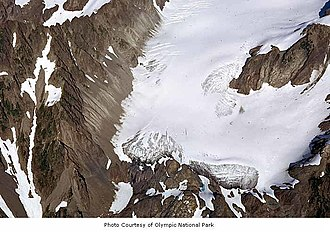 Humes Glacier - Image: Humes Glacier on Mount Olympus, Olympic National Park