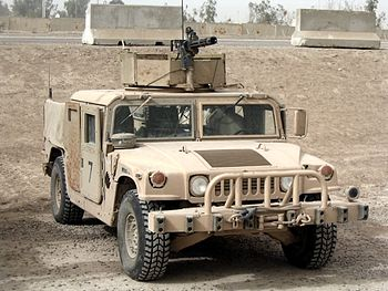 minigun on Humvee
