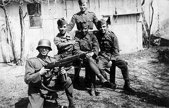Royal Hungarian Army - Hungarian soldiers in the Carpathian Mountains in 1944.