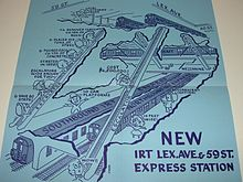Brochure For The Opening Of 59th Street Express Platforms