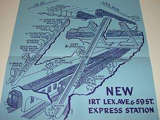 IRT Lexington Avenue Line - Brochure for the opening of the 59th Street express platforms