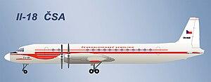 ČSA Flight 001 - Image: Il 18 CSA