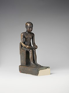Imhotep Egyptian polymath, later revered as a god
