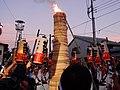 In the first torch ignition Otabisho, Yoshida Fire Festival C.JPG