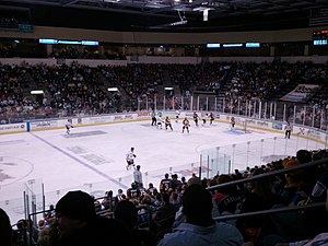Kansas City Mavericks -  Rapid City Rush vs Missouri Mavericks at Silverstein Eye Centers Arena on February 18, 2011.