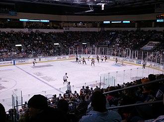 Kansas City Mavericks -  Rapid City Rush vs Missouri Mavericks at Silverstein Eye Centers Arena on February 18, 2011.