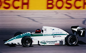 Indy Lights - Mark Smith racing an Indy Lights car at Phoenix International Raceway in 1991.