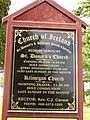 Information Board for St. Donard's C.O.I. Dundrum - geograph.org.uk - 1402706.jpg