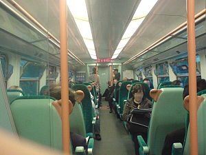 British Rail Class 334 - 334 034's unrefurbished interior