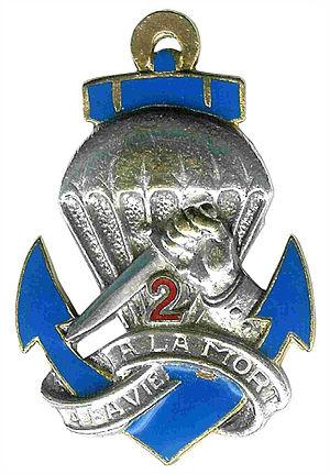 2nd Marine Infantry Parachute Regiment - Image: Insigne du 2° BCCP