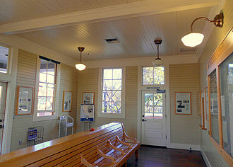 Fremont station - Interior of Centerville SP depot