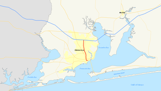 Interstate 110 (Florida) - Image: Interstate 110 (FL) map