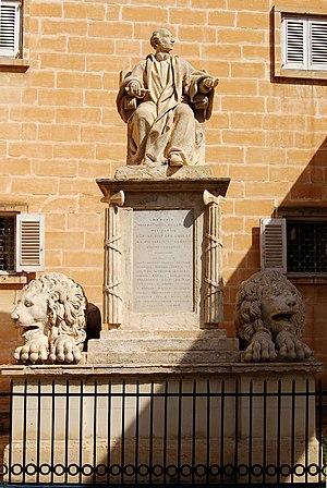 Vincenzo Dimech - Monument to Sir Joseph Nicholas Zammit, Upper Barrakka Gardens, Valletta (1824)