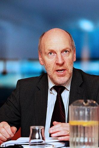 Icelandic parliamentary election, 1999 - Image: Islands statsminister Steingrimur J. Sigfusson Nordiska radets session 2010