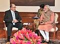 Israeli defence minister Moshe Ya'alon meeting with Prime Minister Narendra Modi.jpg