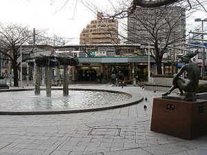 Itabashi - The east exit of Itabashi Station