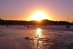 The sun sets over Itacaré on Feb. 9, 2006