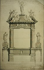 Measurements of the high altar of the Recolette Franciscans' Church in Antwerp