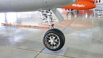 JASDF F-86D(84-8104) nose landing gear right front view at Hamamatsu Air Base Publication Center November 24, 2014.jpg