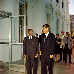 William Tubman - William Tubman and JFK at the White House in 1961