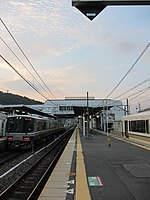 JRW 221 and 223 at Sonobe Station 2010-10-02 (5046259445).jpg