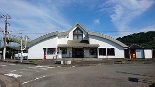 railway station in Shintomi, Koyu district, Miyazaki prefecture, Japan