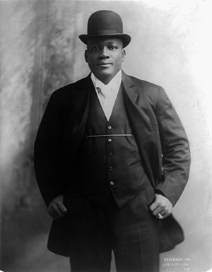 Jack Johnson (boxer) - Jack Johnson in 1908 in a photograph by Otto Sarony