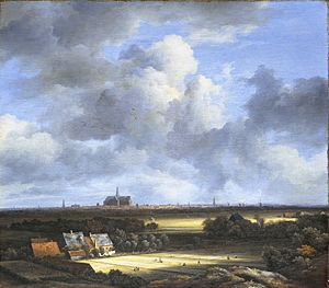 View of Haarlem from the Northwest, with the Bleaching Fields in the Foreground - Image: Jacob Isaacksz. van Ruisdael 027