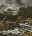 Jacob van ruisdael a mountainous landscape with a waterfall and a cast.jpg