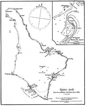 Jaluit Atoll - 1896 map of Jaluit Atoll