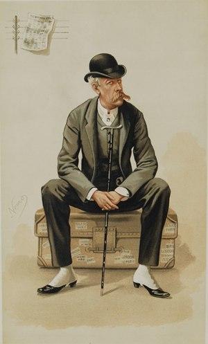 Caricature of James Gordon Bennett, Jr.. Capti...