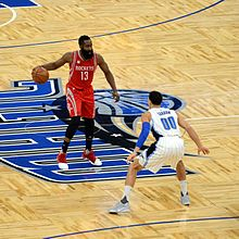 cce7cef9ab3b Harden with the ball in a game against the Orlando Magic in January 2017